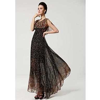 77f2de272ad Lang chiffon kjole