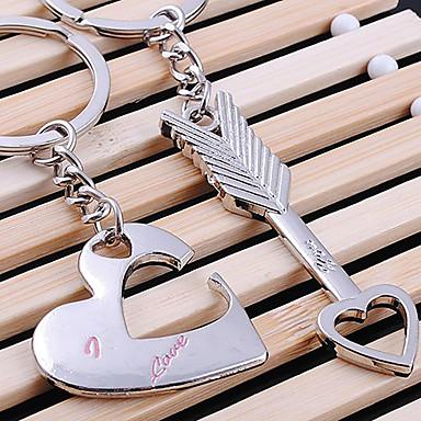 Anahtarlık Mücevher Kalp LOVE Gümüş alaşım Aşk Hediye Erkek Kadın's Çiftlerin