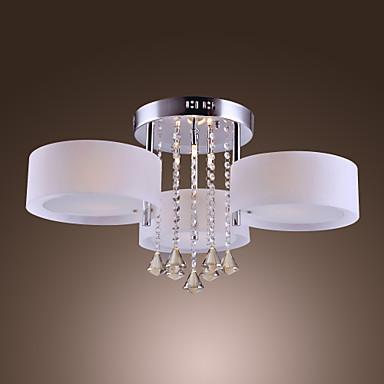 Crystal Light 40w élégant acrylique ras de montage avec 6 lumières