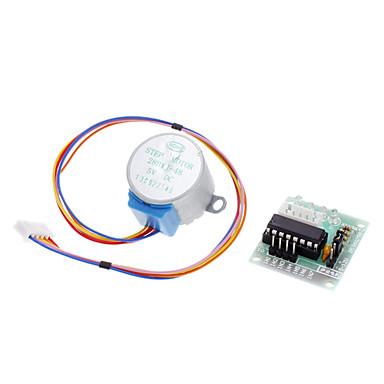 DC 5V 4-fase 5-leder stepmotor + driver plade test modul til (for Arduino)