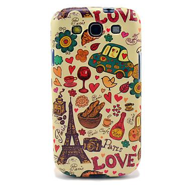 Eiffelova věž a chléb Lesklý TPU pouzdro pro Samsung Galaxy S3 i9300