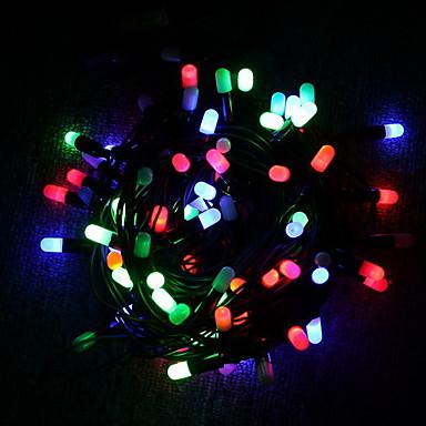 billige Utendørsbelysning-Lysslynger 30 LED Dip Led Multifarget Dekorativ / Jul Bryllup Dekorasjon 4 V 1pc / IP44