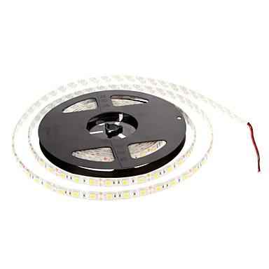 zdm 1 stück wasserdicht ip65 5m string lichter 300 x 5050 leds warmweiß selbstklebende flexible led-lichtleiste dc12v