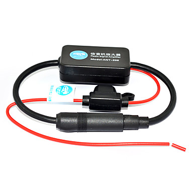 [$10 99] 25dB Car FM Radio Antenna Amplifier Booster with Indicator