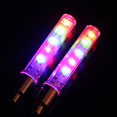 Radlichter Rad beleuchtet Ventilkappen Blinklichter LED Radsport LED-Lampe Lumen Batterie Radsport-MOON