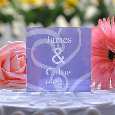 Tortenfiguren & Dekoration Blumen Klassisch Krystall Hochzeit Jahrestag mit Geschenkbox
