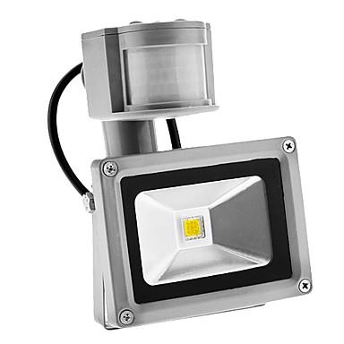 pir 10 watt 900lm im freien motion sensor tag nacht 6000 karat kühle weißes licht führte flutlicht (ac85-265v)