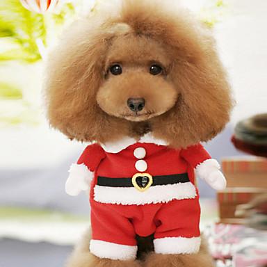 Pes Kostýmy Oblečení pro psy Komiks Červená Bavlna Kostým Pro domácí mazlíčky Pánské Dámské Roztomilý cosplay Vánoce