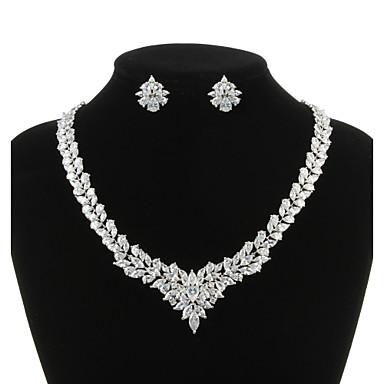 Dámské Kubický zirkon Šperky Set Zahrnout Küpeler Náhrdelníky - Pro Svatební Párty Zvláštní příležitosti Výročí Narozeniny Zásnuby Dar