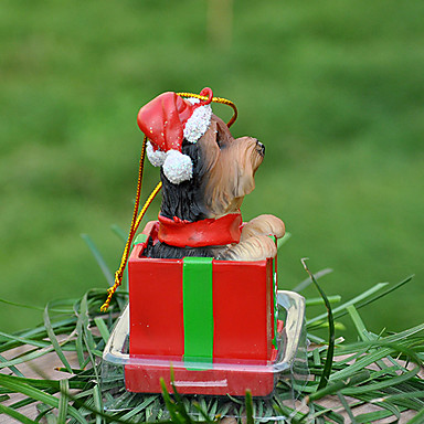 Cute Yorkshire Decorative Ornament Christmas Gift for Pet Dogs Lovers