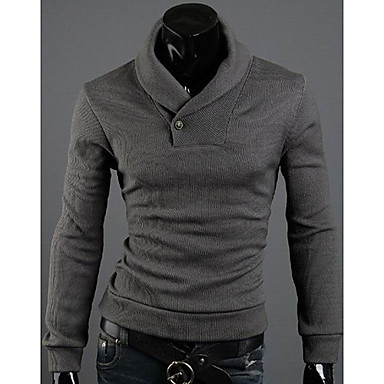 Vans Pánské Solid Color Zeštíhlující Pullover Sweater (Gray) 910661 ... 8e0ccaf7f5
