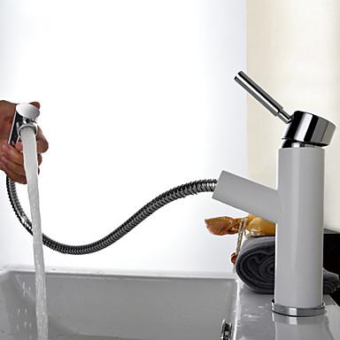 Lavandino rubinetto del bagno doccetta estraibile pittura installazione centrale uno una - Rubinetto lavandino bagno ...