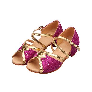 d29276962edb2 Mujer Zapatos de Baile Latino   Salón Brillantina Sandalia Lentejuela    Purpurina Tacón Bajo No Personalizables