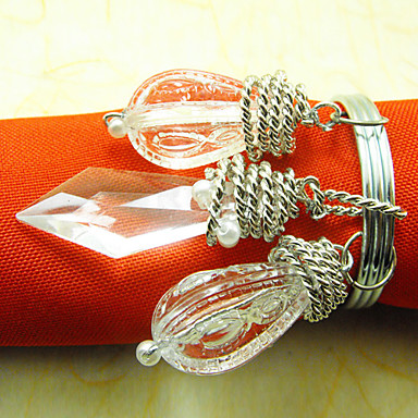 Nunta grațios șervețele inel, acril Dia 4,5 cm Set de 12