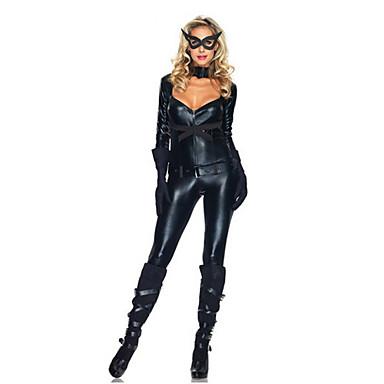 Costume Cosplay Costume petrecere Costume film & teme TV Festival/Sărbătoare Costume de Halloween 纯色 Centură Mască Costum PisicăHalloween