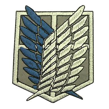 Jewelry / Badge Inspirirana Napad na Titanu Eren Jager Anime Cosplay Pribor Badge Bijela / Plava Polyester Male