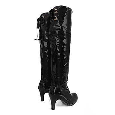 Avec Automne Cuissarde Femme 01053797 amp; Plateforme Evénement Talon Chaussures Printemps Décontracté Aiguille Hiver Similicuir Fermeture Soirée Pour tT8wzTxqf