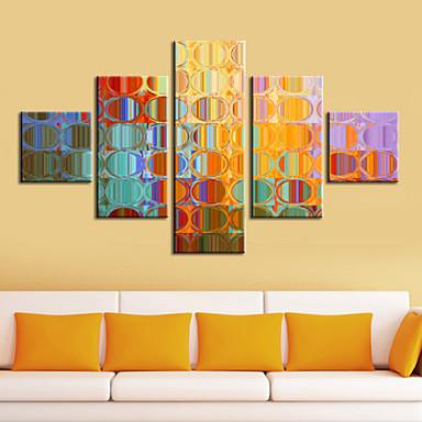 Protezale Canvas Ispis Art apstraktnih Šarene Ogledala set od 5