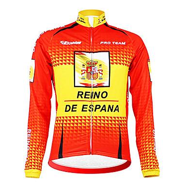 Kooplus Pánské Dlouhý rukáv Cyklo bunda Jezdit na kole Dres, Zahřívací, Zateplená podšívka, Prodyšné, Jaro, Polyester Fleece
