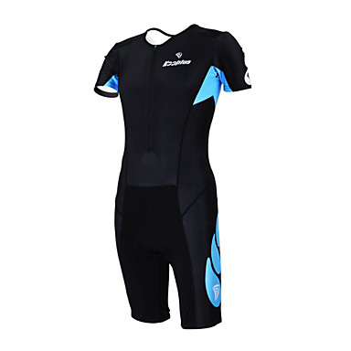 Kooplus Tri Suit Women's Men's Unisex Short Sleeve Bike Coveralls Clothing Suits Quick Dry Moisture Permeability Wearable Breathable
