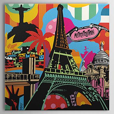 pânză întinsă de artă pop Eiffel de arta peisajului turn gata să stea