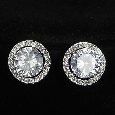 Pentru femei Zirconiu Cubic Platină Rotund Bijuterii Costum de bijuterii