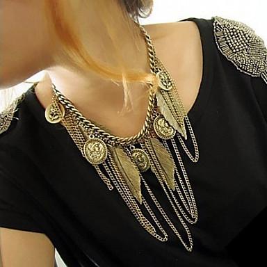Damen Statement Ketten  -  Quaste Modisch Europäisch Golden Modische Halsketten Für Party Alltag Normal