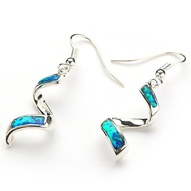Women's Drop Earrings Birthstones Silver Plated Jewelry Party Daily Casual