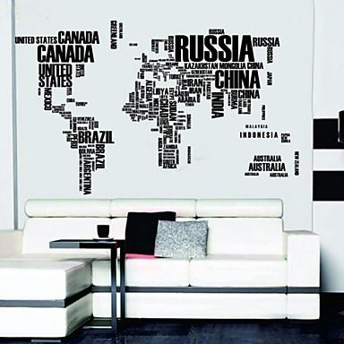 Scrisori harta lumii Wall Decals detașabile autocolante de perete