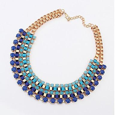 Btime Dámská Vintage Skládaný přediva Korálky náhrdelník