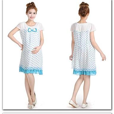 55e0b22c5b Maternity Ruha egyrészes ruha tavaszi és nyári Köntös Dot terhes ...