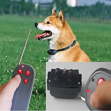 cheap Hunting & Nature-Dog Bark Collar Dog Training Collars Training Anti Bark Remote Control Electronic / Electric Solid Colored Nylon Gray
