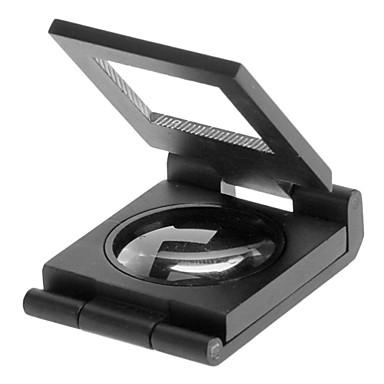 povoljno Kéziszerszámok-10X Metal Folding Pocket Nakit lupa Povećalo Povećalo s ljestvice
