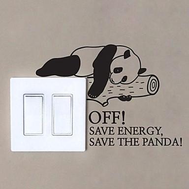 Zvířata Panda Přepnout samolepka samolepky na zeď