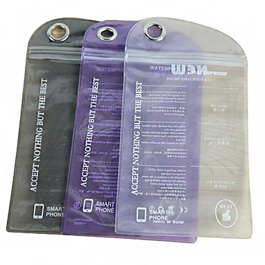 Solid de culoare impermeabil pungă de plastic pentru iPhone 5/5S (Random Color)