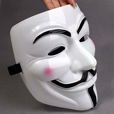 Thicken White Mask V For Vendetta Full Face Scary Cosplay Gadgets for Halloween Costume Party