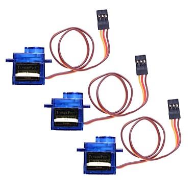 Mini 9G Servo cu Accesorii - Translucent albastru (3pcs)