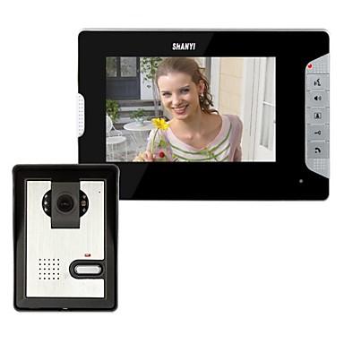 7-inčni video portafon Doorbell Intercom Kit 1-kamera 1-monitor Night Vision