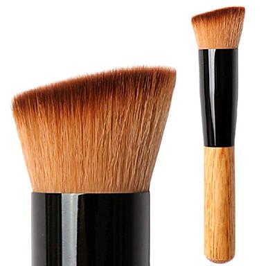 Professionel Make-up pensler Foundationbørste 1 Rejse Venstre vinklet Multifunktion blanding Premium fejlfri polering punktering Syntetisk Hår / Kunstig Fiber Børste til Khaki Flydende Pudder