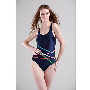 Women's Athletic Swimwear Polyester / Spandex Beach Wear One-piece