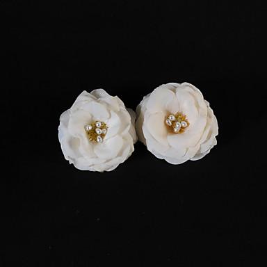billige Hodeplagg til fest-Silke og Pearl Wedding / fest Flower