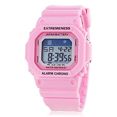Women's Quartz Japanese Quartz Wrist Watch Casual Watch Silicone Band Casual Elegant White Pink Rose