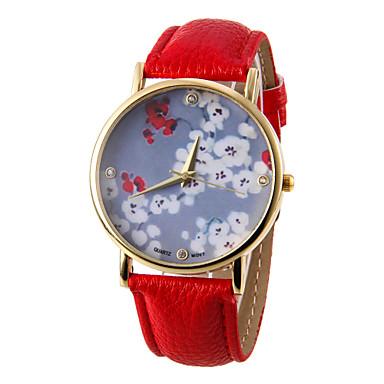 Women's Flower Pattern PU Band Quartz Wrist  Watch  Cool Watches Unique Watches