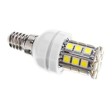 400 lm E14 LED Mais-Birnen T 30 Leds SMD 5050 Abblendbar Kühles Weiß Wechselstrom 220-240V