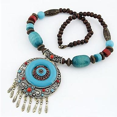 Women's Bohemian Pendant Necklace / Statement Necklace Blue / Gemstone