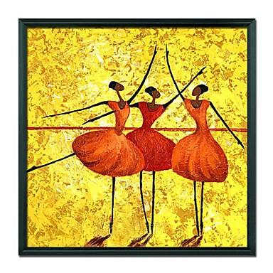mână pictat oameni dansator de balet încadrată pictura în ulei acasă decor