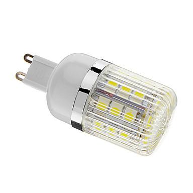 400 lm G9 LED Mais-Birnen T 30 Leds SMD 5050 Abblendbar Kühles Weiß Wechselstrom 220-240V