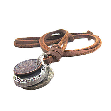 Anderen Leder Anhängerketten  -  Einzigartiges Design Modisch Braun Modische Halsketten Für Weihnachts Geschenke Party Geschenk