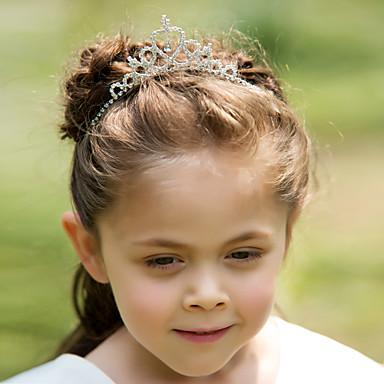 Yapay Elmas / alaşım Çiçek  -  Tiaras / Headbands / Başlık 1pc Düğün / Özel Anlar Başlık