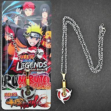 Šperky Inspirovaný Naruto Sasuke Uchiha Anime Cosplay Doplňky Náhrdelníky Czerwony / Stříbro Stop Pánský